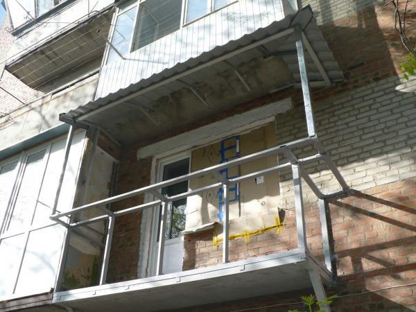 Как сделать каркас на балкон